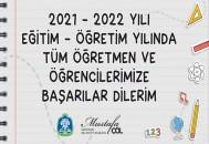 BAŞKAN MUSTAFA ÇÖL'DEN 2021/2022 EĞİTİM VE ÖĞRETİM YILI MESAJI
